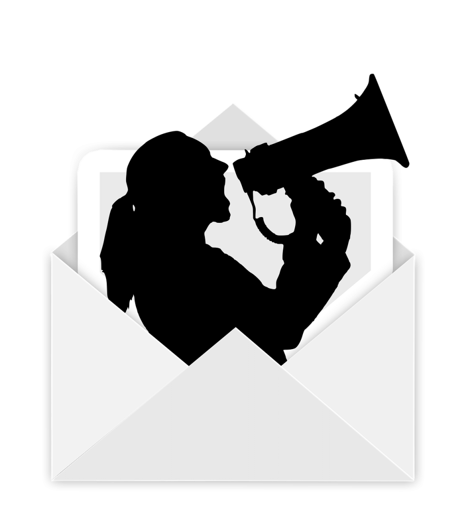envelope megaphone